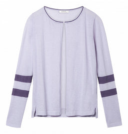 Long sleeve cardigan with stripes - Pastel Lilac