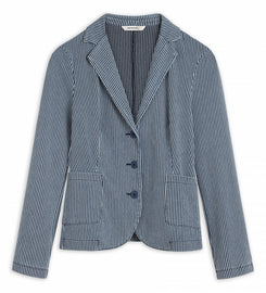 Striped blazer - Medium Blue Denim
