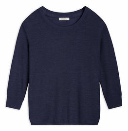 Open-knit sweater -Navy