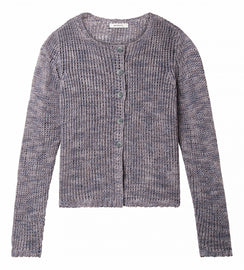 Knitted cardigan with double button closure - Fresh Grey HTR