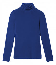 Long-sleeved top with turtleneck  -Merlin Blue