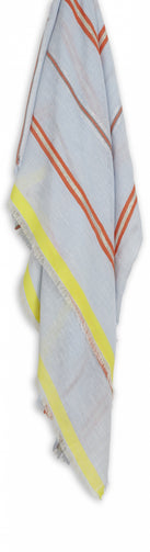 Fine scarf with multicoloured stripes -Ashley Blue
