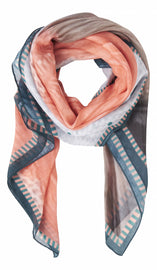 Colorful scarf - Peach