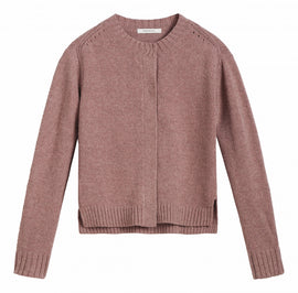 Cardigan with buttons at the top -Muted Blush