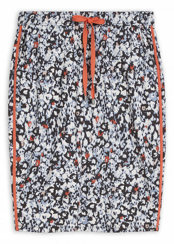 Skirt with graphic print -Anthra