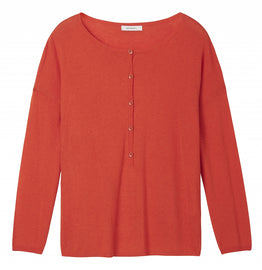 Fine knit sweater - Red Clay