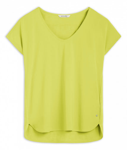 T-shirt with short sleeves -True Lime
