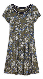 Dress with floral print - Spring Olive