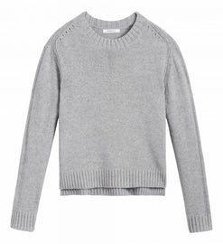 Comfortable sweater with openwork details  -Pearl Grey Heather