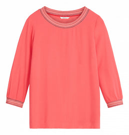 Top with striped lurex piping  -Intense Pink