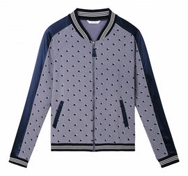 Bomber jacket with dots - Grey Lilac