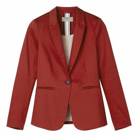 Shiny blazer - Burned Red