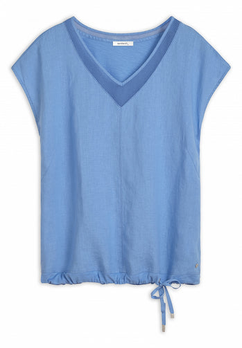 T-shirt with mesh details -Fresh Sky