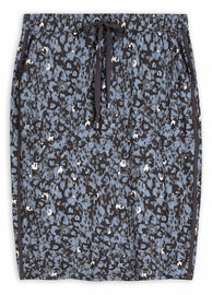 Skirt with graphic print -Ashley Blue