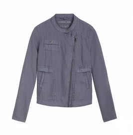 Linen jacket -Blue Grey
