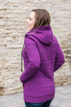IN STOCK Purple Aztec Half Zip Hoodie