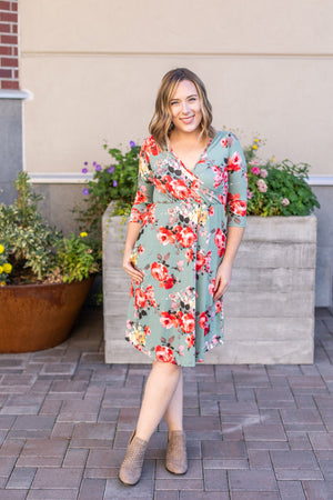 IN STOCK Taylor Dress - Sage Floral