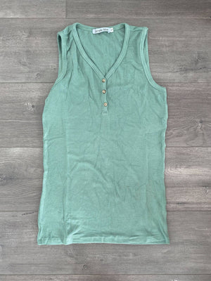 IN STOCK Addison Henley Tank - Sage Green