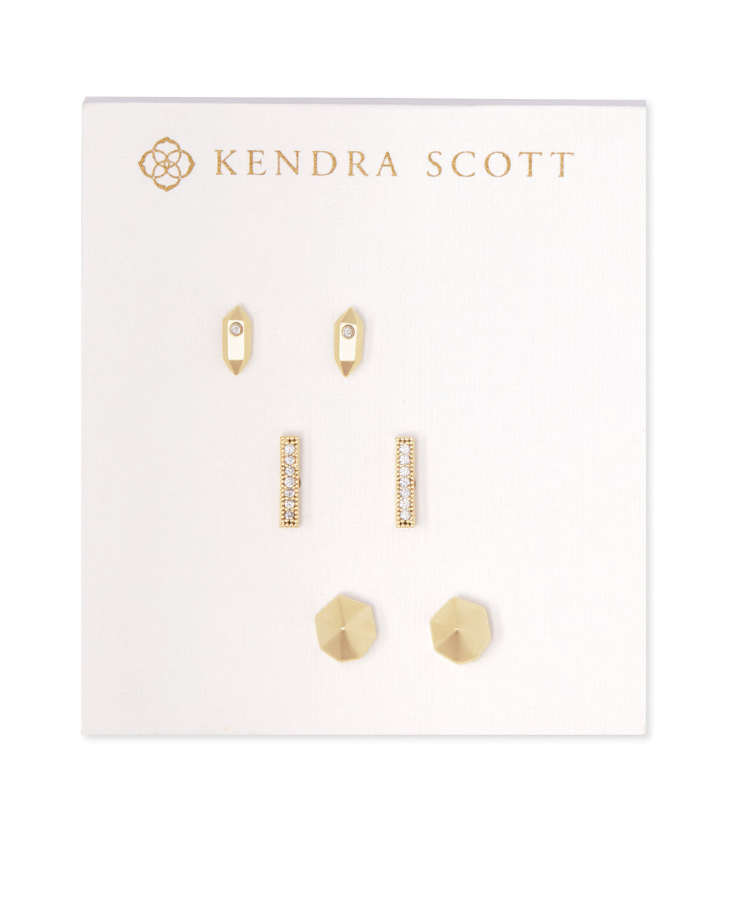 Austin Stud Earring Set in Gold