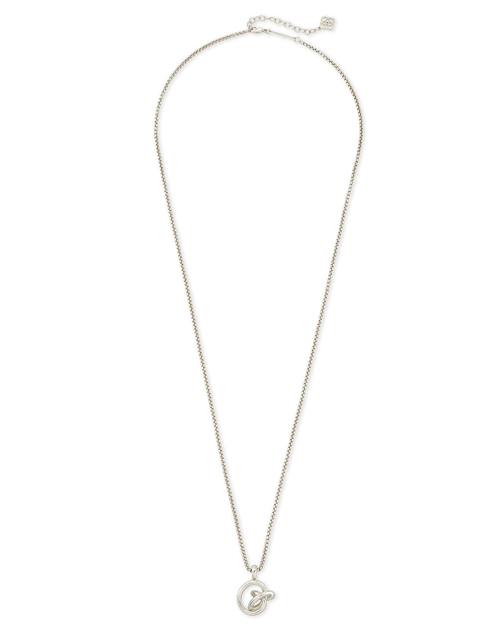 Presleigh Love Knot Pendant Necklace In Silver