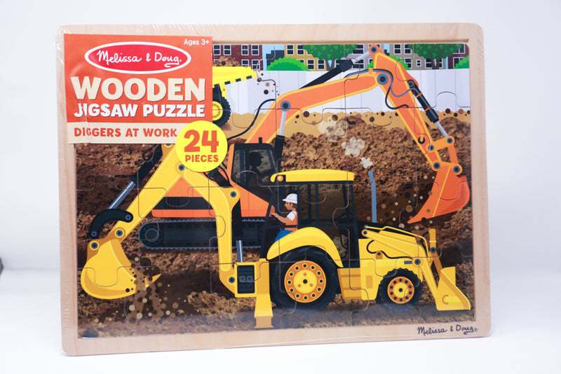 Wooden Jigsaw Puzzle- Diggers at Work