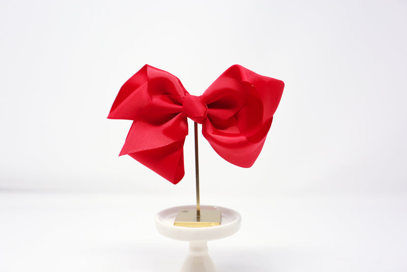 "Red- 6"" Bow on Alligator Clip"