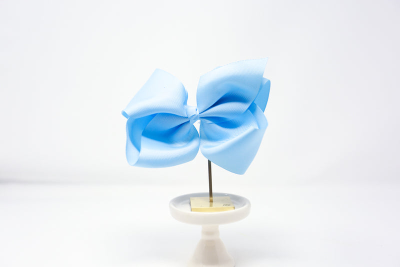 "Baby Blue- 6"" Bow on Alligator Clip"