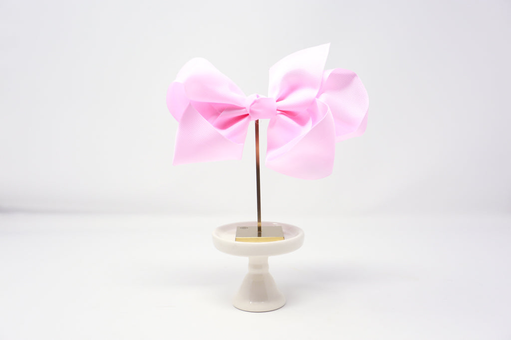 "Baby Pink- 6"" Bow on Alligator Clip"