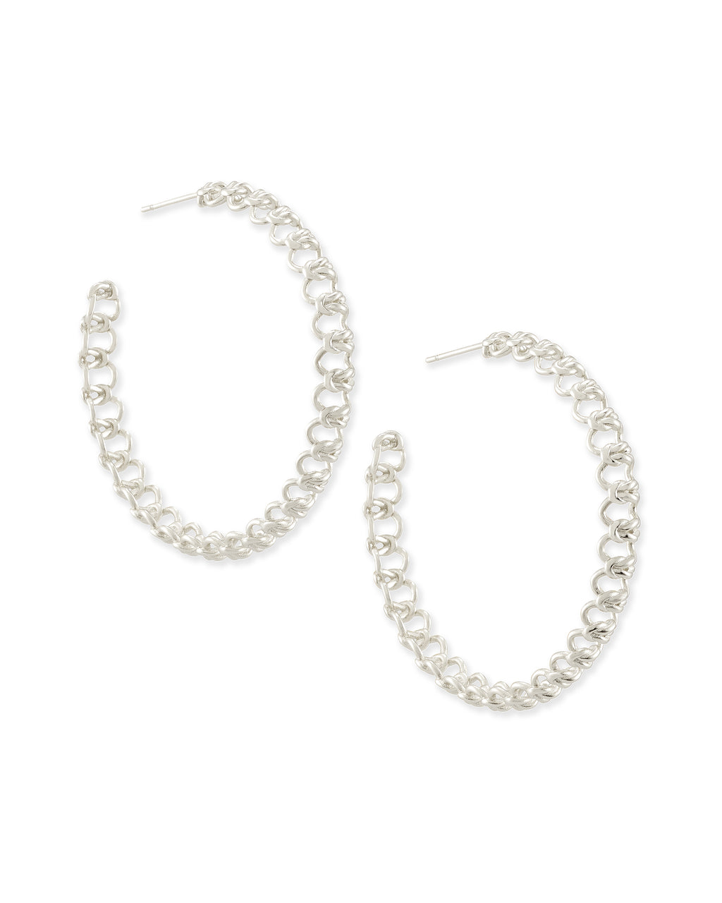 Fallyn Hoop Earrings In Silver