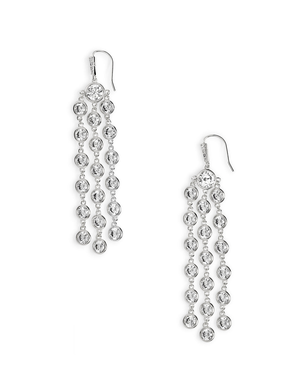 Daya Statement Earrings in Silver