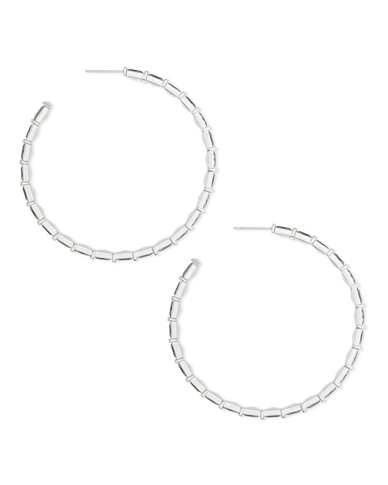 Thora Silver Hoop Earrings