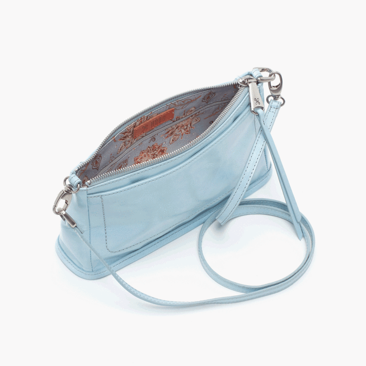 Cadence Crossbody- Whisper Blue Vintage Hide