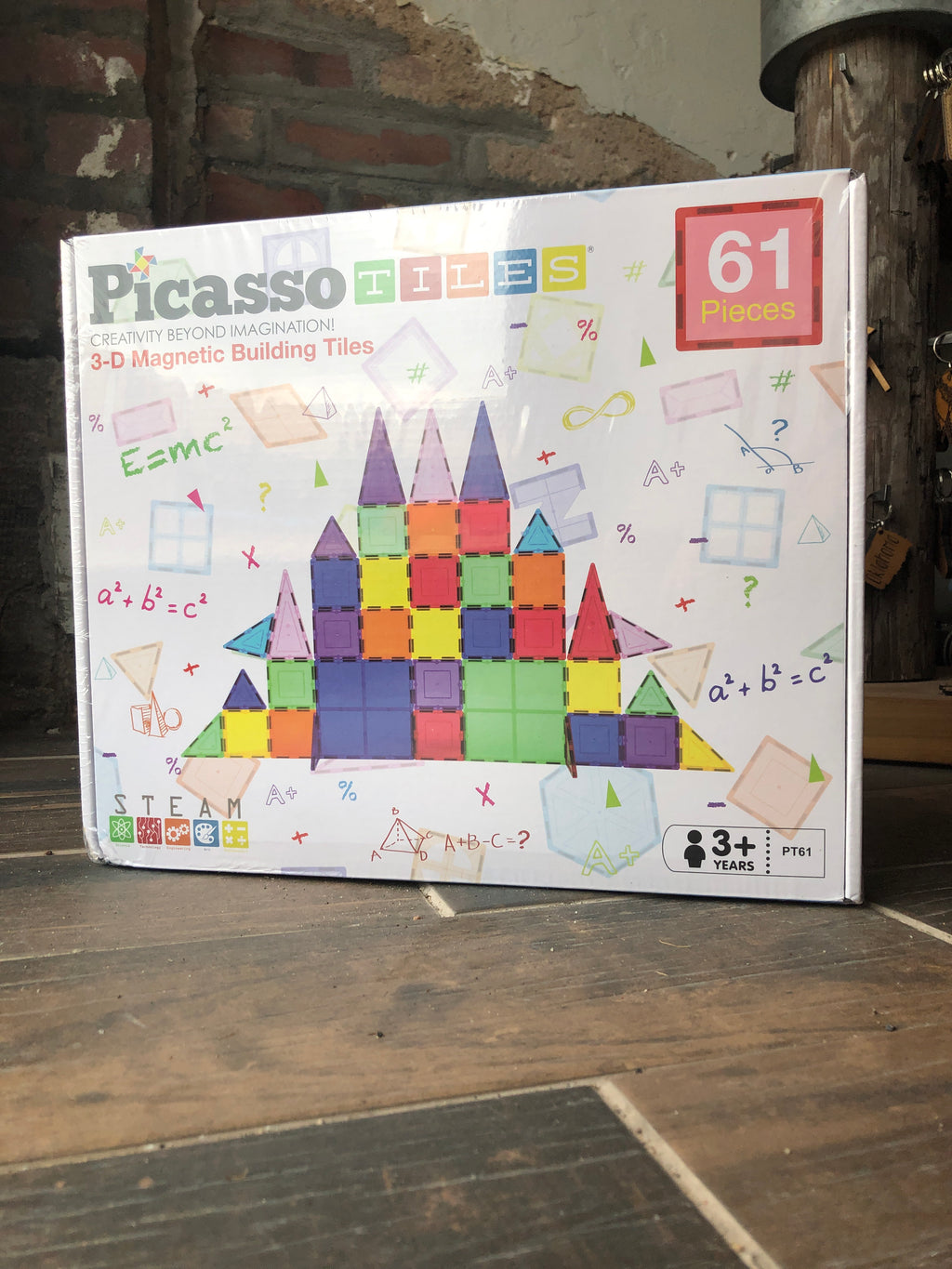 Picasso Tiles 61 Piece Large Magnetic Tiles