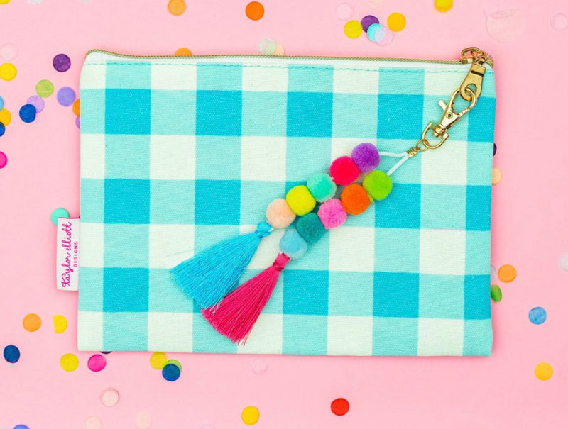 Blue Gingham Pouch