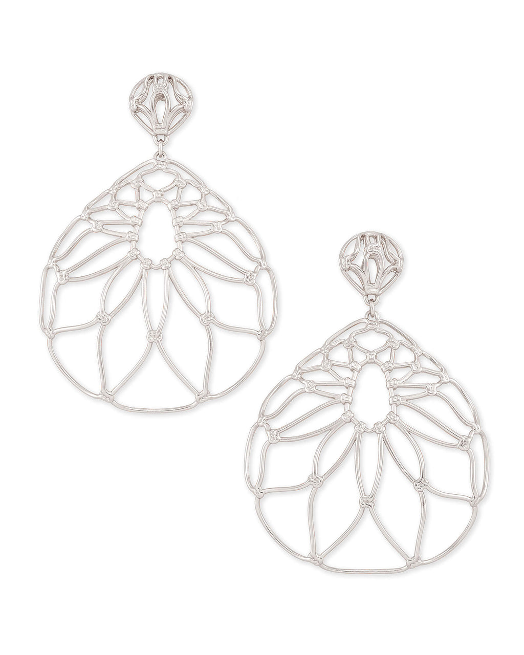 Hallie Statement Earrings In Silver