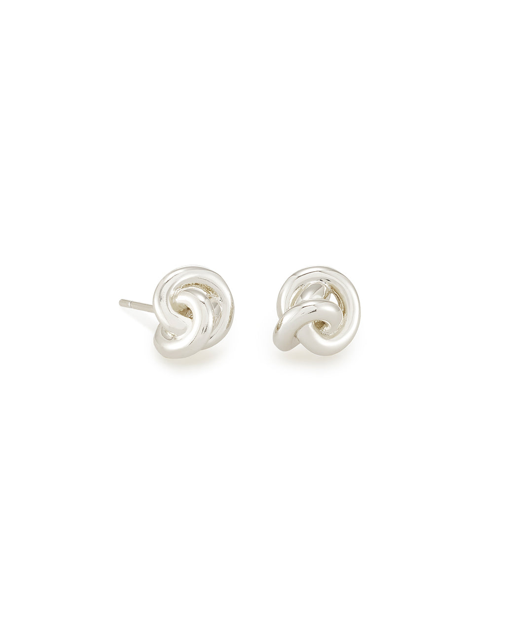 Presleigh Love Knot Stud Earrings In Bright Silver