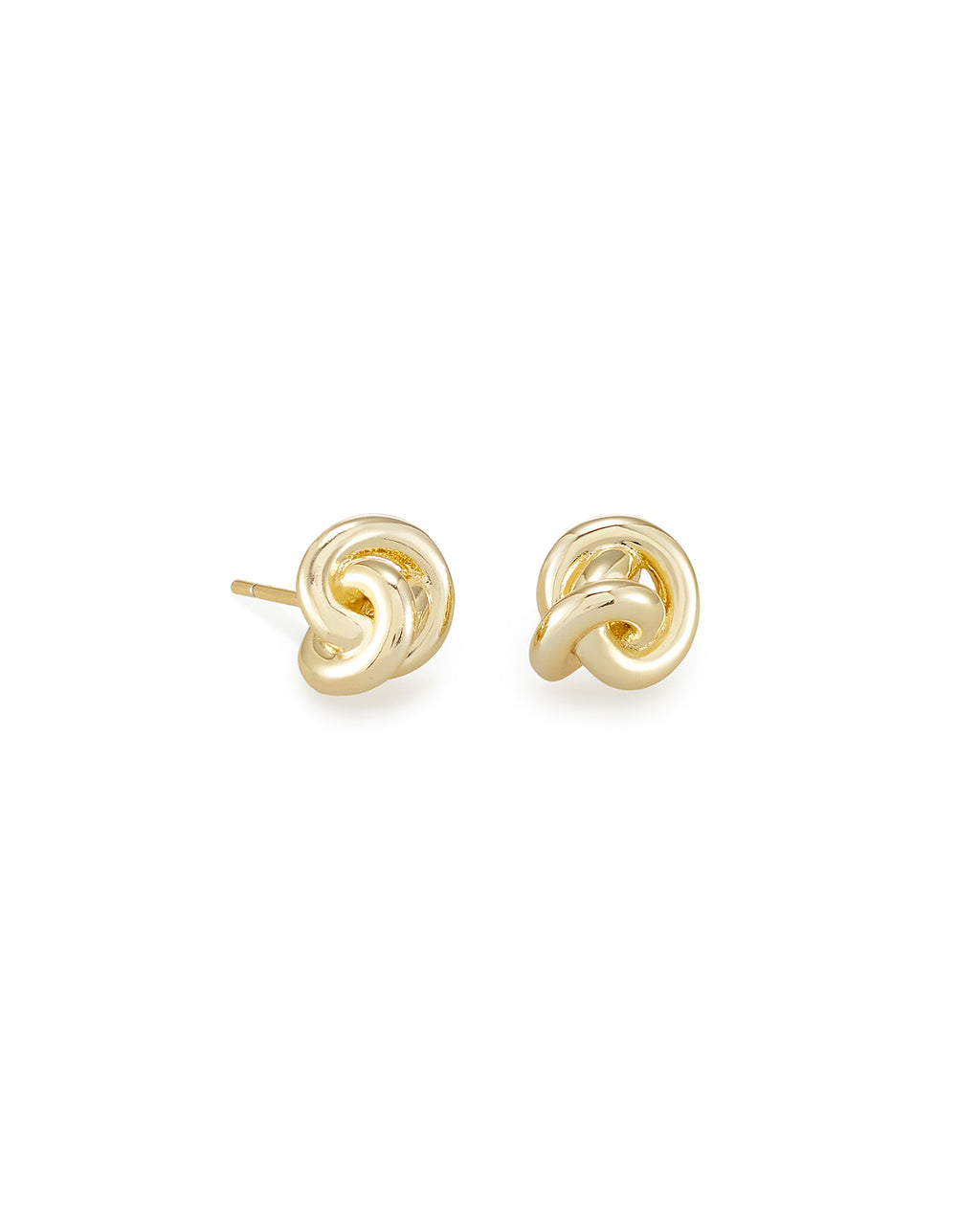 Presleigh Love Knot Stud Earrings In Gold