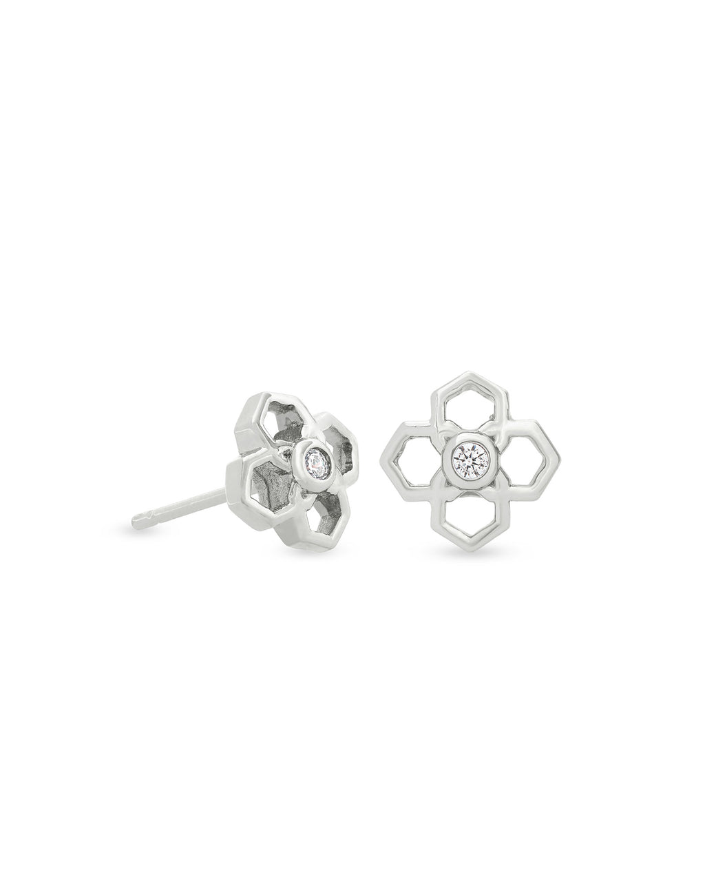 Rue Stud Earrings in Silver
