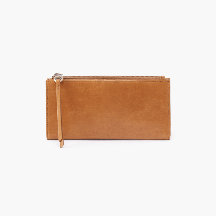 Ode Wallet- Honey Vintage Hide