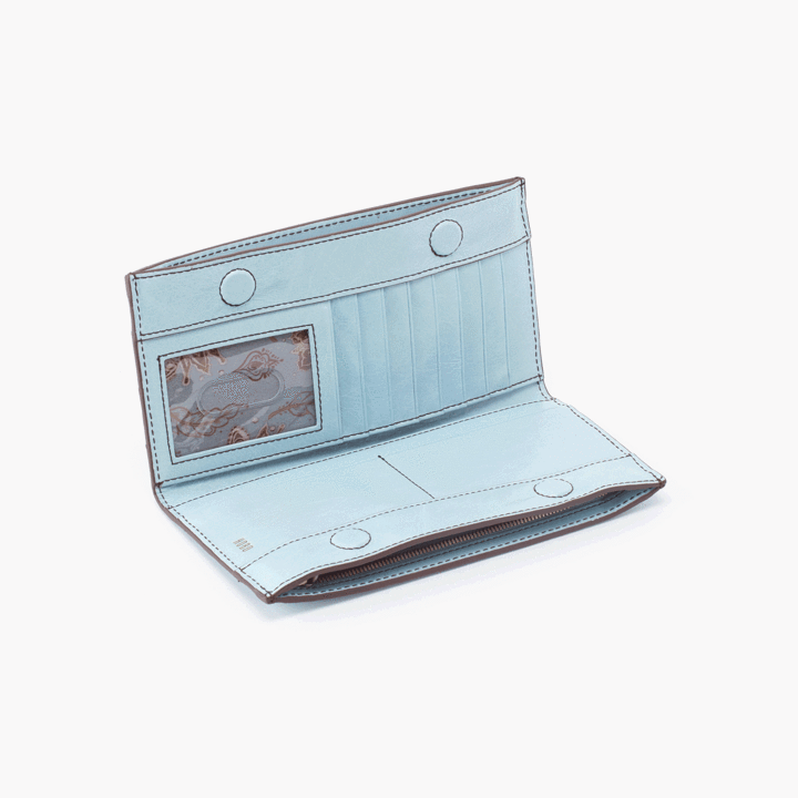 Rail Wallet- Whisper Blue