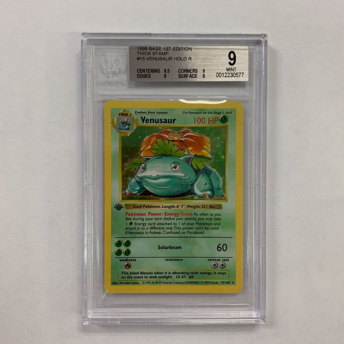 Beckett 9 Mint Venusaur 1999 Base Set First Edition