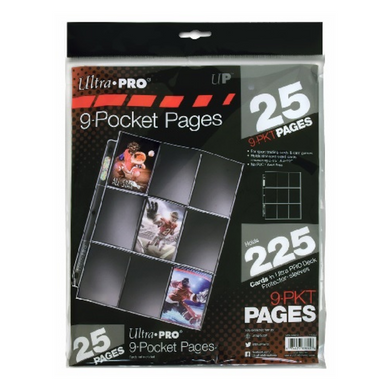 Ultra Pro 9-Pocket Pages 25 Pack