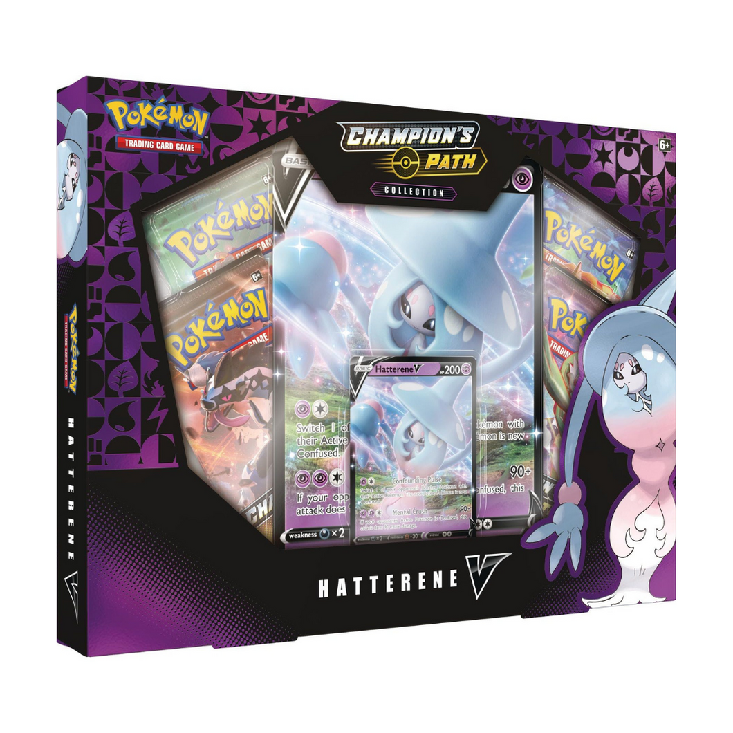 Pokémon Champion's Path Hatterene V Box