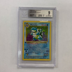 Beckett 9 Mint Blastoise 1999 Base Set First Edition