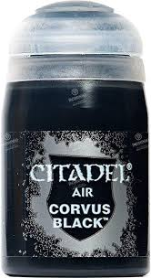 Warhammer Citadel Paint: AIR Corvus Black - Comic Warehouse