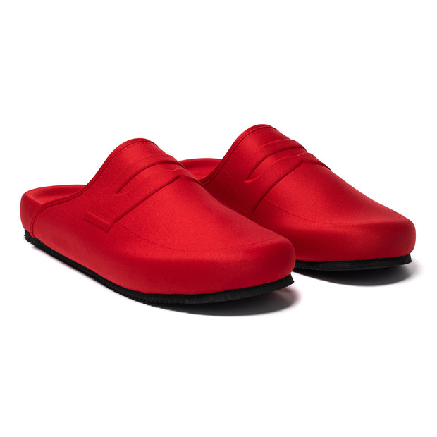 LOAFER MULE - RED