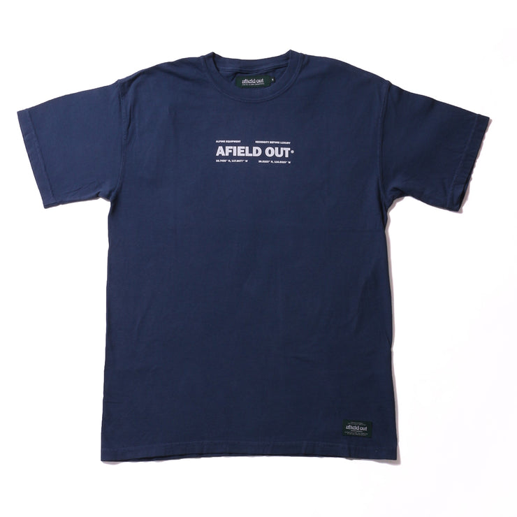 THREE PEAKS T SHIRT - MIDNIGHT