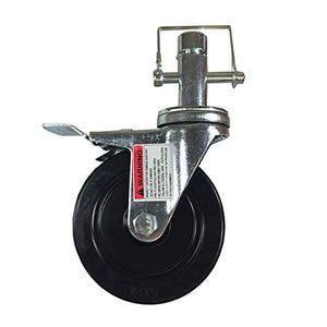 "5"" Scaffold Rolling Tower Caster 1 Inch Round stem Hard Rubber Wheel Caster"