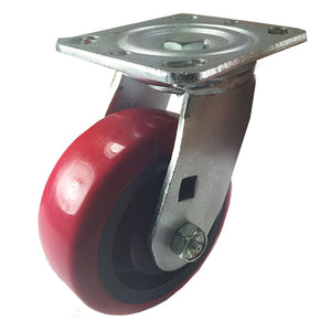 "5"" x 2"" Heavy Duty ""Polyurethane Wheel"" Caster - Swivel"