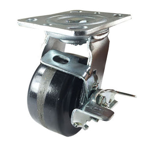 "4"" x 2"" Heavy Duty ""Phenolic wheel"" Caster - Swivel with Brake"